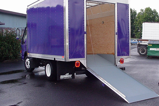 Choose versatility with a door that doubles as a walk ramp.