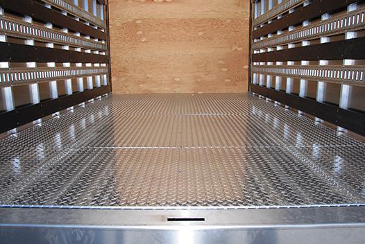 Floor Option Aluminum Treadplate Overlay